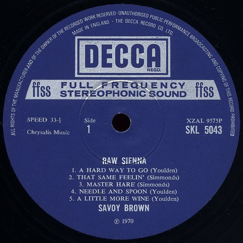 Savoy Brown - Raw Sienna (1970)