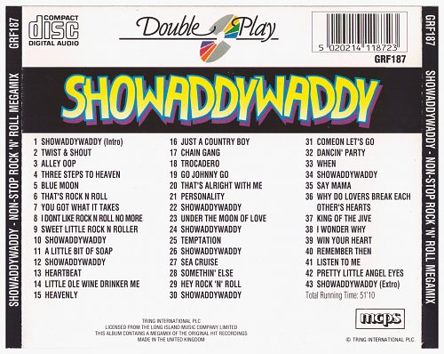 Showaddywaddy - Non-Stop Rock 'N' Roll MEGAMIX (1991)