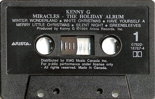 Kenny G - Miracles The Holiday Album (1994 Arista, BMG)