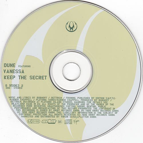 Dune feat. Vanessa - Keep The Secret (1998, CD-Maxi)