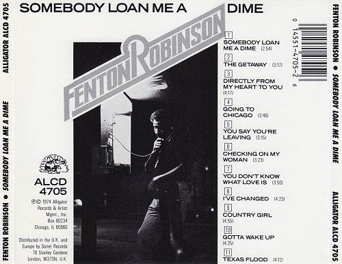 Fenton Robinson - Somebody Loan Me A Dime (1974)