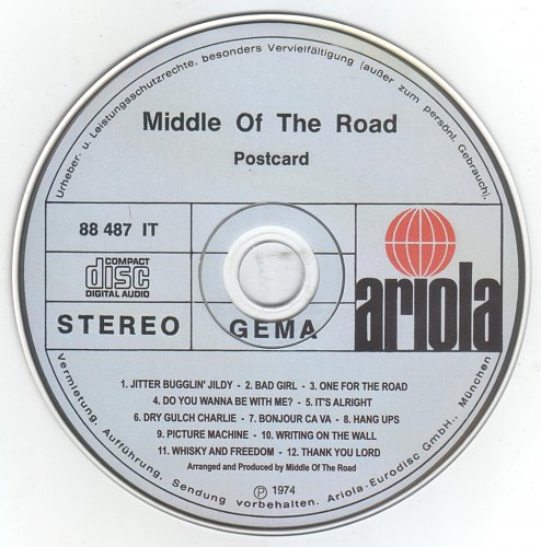 Middle Of The Road - Postcard (1974)