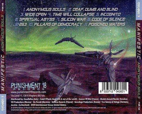 Manifestic - Anonymous Souls (2019 Punispment 18 Records P18R 145, Germany/Italy/EU)
