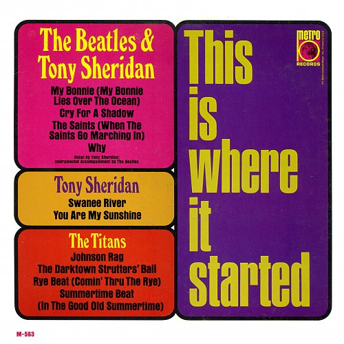 Beatles With Tony Sheridan - This Is Where It Started (1966)
