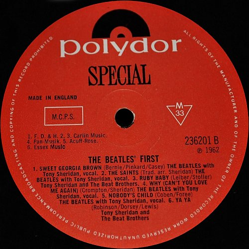 Beatles With Tony Sheridan & Guests - The Beatles' First (1962)