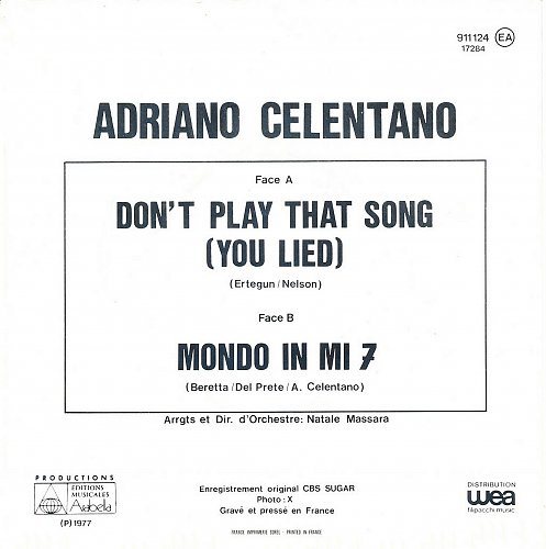 Adriano Celentano - Don`t Play That Song (1977)