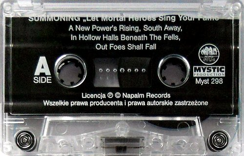Summoning - Let Mortal Heroes Sing Your Fame (2001 Napalm Records; Mystic Production, Poland)