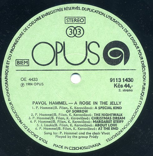 Pavol Hammel - A Rose In A Jelly (1984)